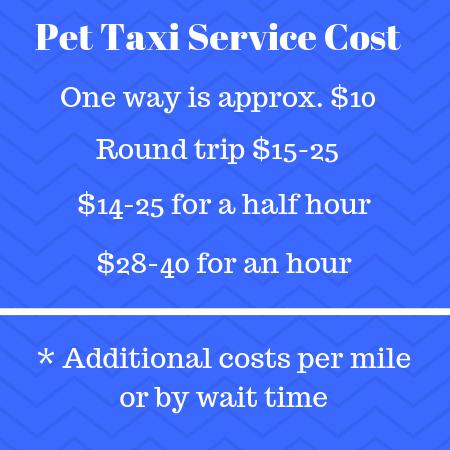 Pet Taxi Service Cost