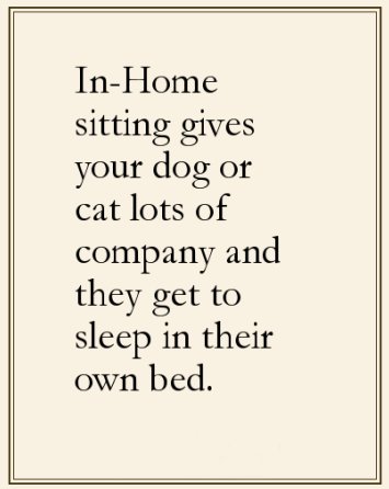 dog and cat in home sitting rates