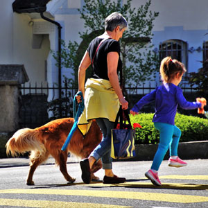 Dog walking is a great health benefit because you get exercise too